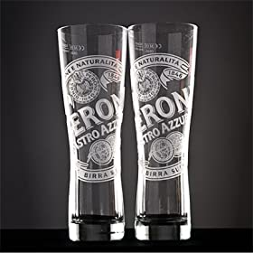 Peroni Signature Italian Beer Glass | Set of 2 Glasses