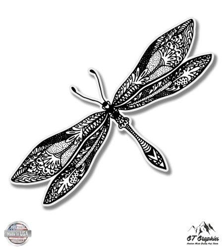 Vinyl Sticker Waterproof Decal GT Graphics Dragonfly