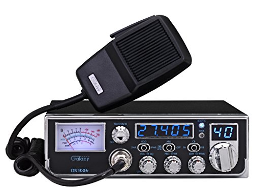 Galaxy DX-939F Mobile AM CB Radio with Frequency Counter & Backlit Faceplate in a Mid Size Chassis - 7.25