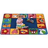 Carpets for Kids 6200 Printed Toddler Blocks Rug Size: 6' x 9' 6' x 9' , 6' x 9' , Multicolored
