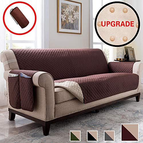 Vailge Sofa Cover, Durable Sofa Covers for Dogs,Couch Covers for Dogs, Sofa Slipcover, Couch Covers for 3 Cushion Couch, Sofa Covers for Living Room, Couch Protector (Sofa:Chocolate) (Cushions For Large Sofa Sale)