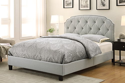 Border Queen Headboard - Pulaski Channing Upholstered All-In-One Bed, Queen, Trespass Marmor
