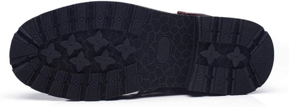 DIBAO Kettle de Silbato para la Placa de Gas Zapatos de Trabajo para Hombres Combate Senderismo Motocicleta Motora Botas de Invierno Lace Up Tobillos Botines Alturas Top (Color : Black, Size : 44 EU)