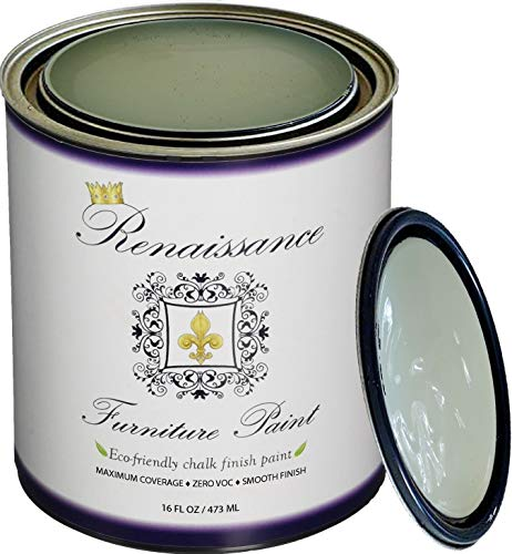 (Retique It RFP-P16-TerreVerte by by Renaissance Chalk Finish Paint, 16 oz (Pint), Terre Verte 39)