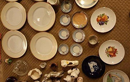 Massive China & Porcelain Silverware, Plates, Jars, Cups, Teacups, Cloth Plate Covers & More. Huge Set (88 Pieces) (Plates China Japan Porcelain)