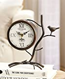 Giftcraft Bird and Branch Design Roman Numeral Table Clock