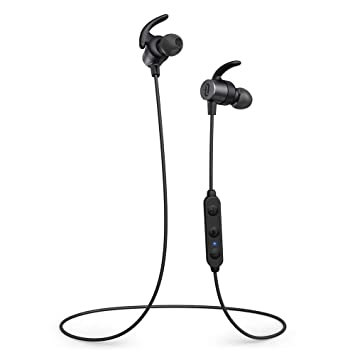 Wireless Bluetooth Headphones, TaoTronics Bluetooth 5 0 Sports Earbuds  Cycling Headset with 3 EQ Settings, 16 Hours playtime, aptX HD Audio CVC  8 0