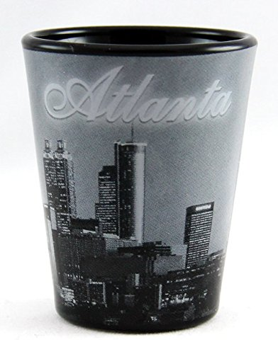 UPC 610370705780, Atlanta Georgia B & W Skyline Shot Glass ctm