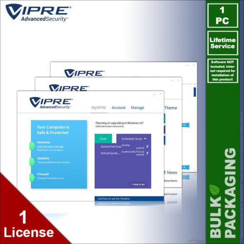 VIPRE 2017 Advanced Security Antivirus - 1 PC - LIFETIME License