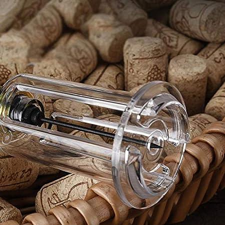 Sacacorchos de Camareros Vino abridor de botellas de presión for facilitar la extracción del corcho Tapones increíble botella de vino abridor de simple es perfecto for los amantes del vino Abridor de