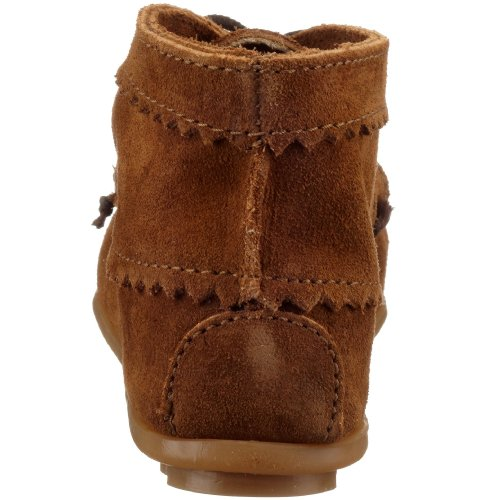 MINNETONKA - Suede Ankle Boot - Chocolat