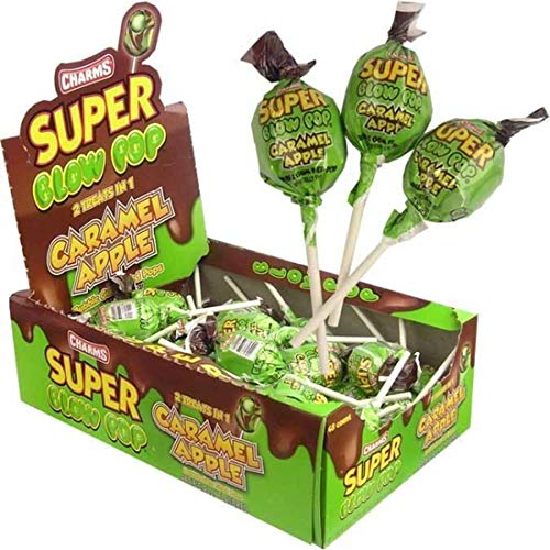 Caramel Apples Halloween (Charms Super Blow Pops - Caramel Apple - Halloween Candy - 48 Piece)