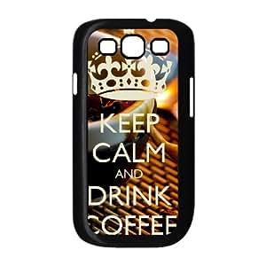 Samsung Galaxy S3 9300 Cell Phone Case Black Keep Calm Drink Coffee V2X6J