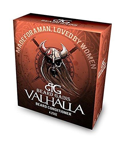 Beard Gains Valhalla Organic Goat Milk Viking Scented Beard Soap Conditioner - Mens Anti Dandruff Itch (4.25oz)