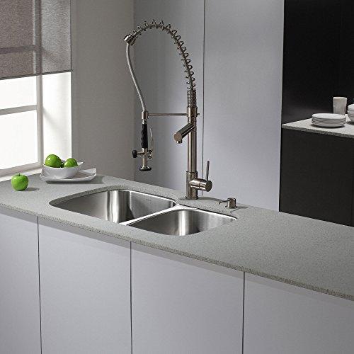 Kraus KBU24 32 inch Undermount 60/40 Double Bowl 16 gauge Stainless Steel Kitchen Sink by Kraus (Image #10)