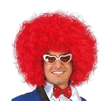 Peluca de Hippie roja Afro extra