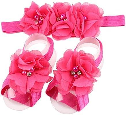 e5f19f6a63d94 Amazon.com : Elevin(TM) Children Baby Cute Flower Barefoot Sandal ...