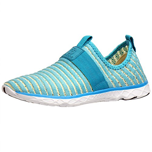 Water Sport Shoes Aleader Women's Tennis Walking Shoes Light Blue 8 D(M) US