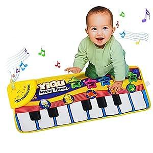 Vococal-Esterilla de Bebé / Toque Jugar juguete de Sonido Piano de alfombra para niño