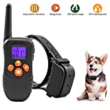 Training Dog Collar - OCALER Dog Training Collar with Remote, E Collar Rechargeable Waterproof Beep and Vibration, No Electric Shock to Harm Pets