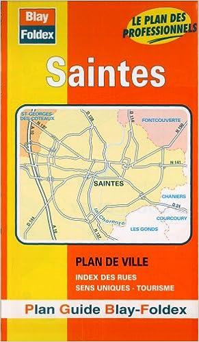 Livres gratuits en ligne Plan de ville : Saintes (avec un index) pdf, epub