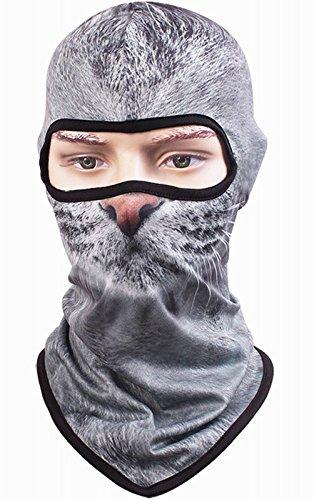 Kingree Balaclava Ski Mask, Motorcycle Helmets Liner Ski Gear Neck Gaiter, Animal Print Series Quick-Dry Mask