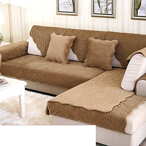 5800 Leather (Sofa cushions,european style fabric non-slip solid color short wool leather cushion-E 90x175cm(35x69inch))