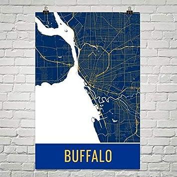 Carte Ville Buffalo.Affiche De Buffalo Impression D Art De Buffalo Art Mural