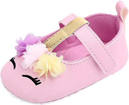 Newborn Infant Cute Baby Girls Cartoon Floral Casual First Walker Toddler Shoes