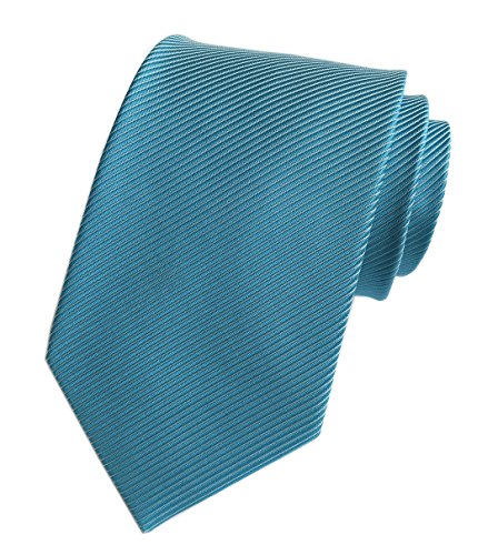 Elfeves Men's Striped Sky Blue Silk Ties Jacquard Daily Dress Meeting Neckties (Silk Tonal Stripe)