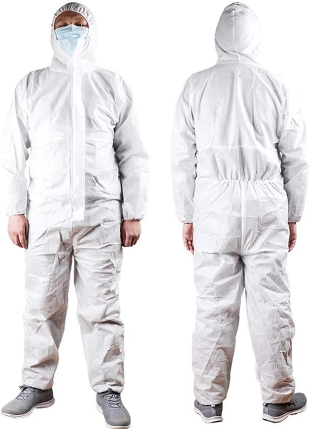 L-DJJ ajuste cómodo, Ropa protectora for prevenir eficazmente la entrada de polvo, aislamiento desechable Ropa for transpirable Laboratorio de Química, de cuerpo completo de gas Ropa de protección ,Pa