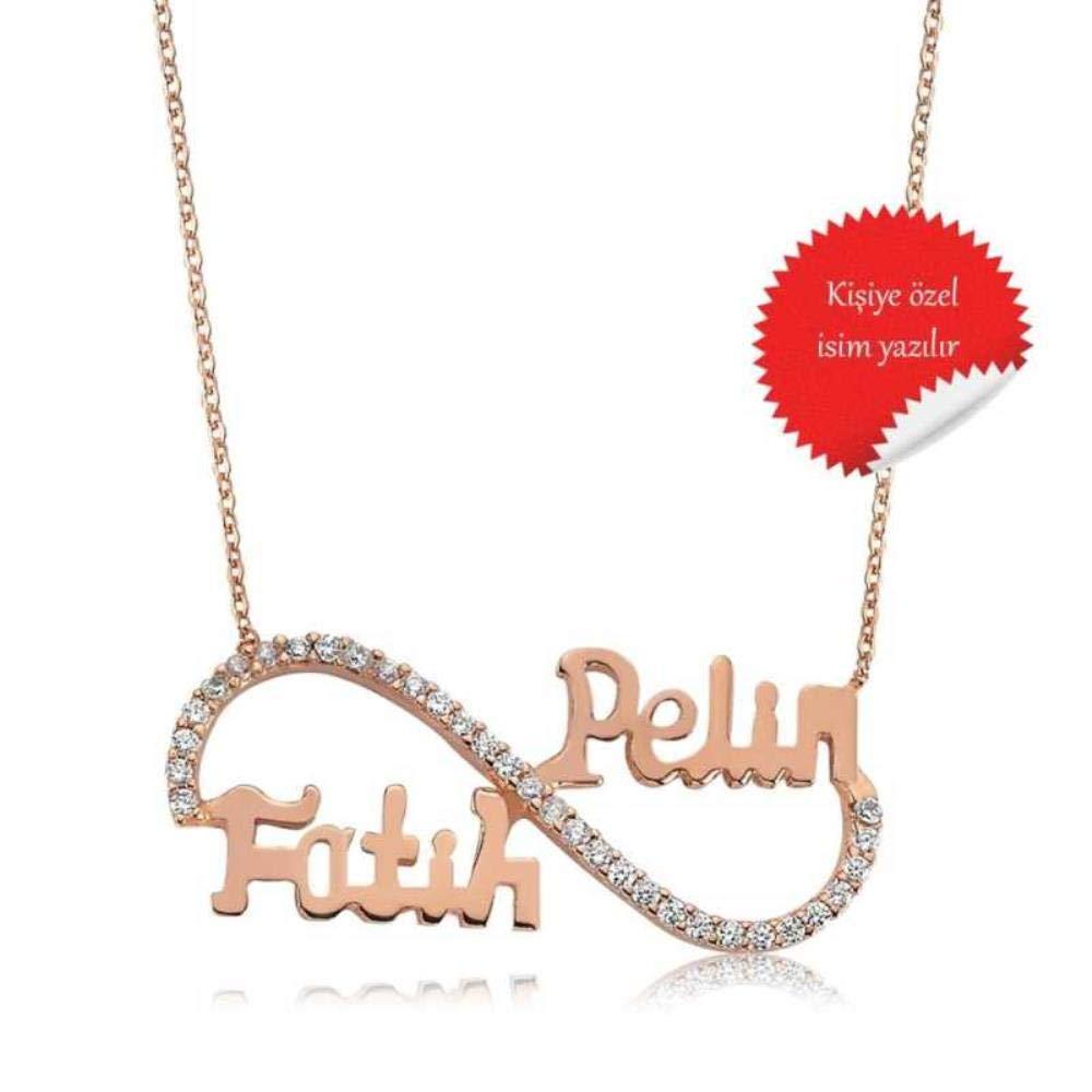 KOKANA Personalized Name Infinity Necklace Custom Made Any Name Girlfriend Gift