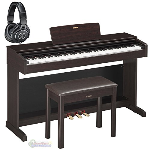 Yamaha YDP143R Arius Traditional Dark Rosewood Console Digital Piano w/ Bench and Headphones