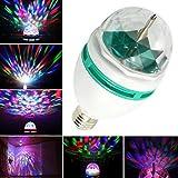SJP LightR Auto Rotating LED Strobe Bulb Multi changing Color Crystal stage light for Disco Party Club Bar Dj [並行輸入品]