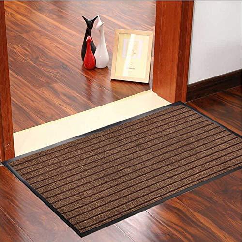 (Goodxin XX1-12 Indoor Outdoor Mats Rubber Entrance Doormat Dirt Debris Mud Trapper Waterproof Out Door Mat Low Profile Washable Carpet (36