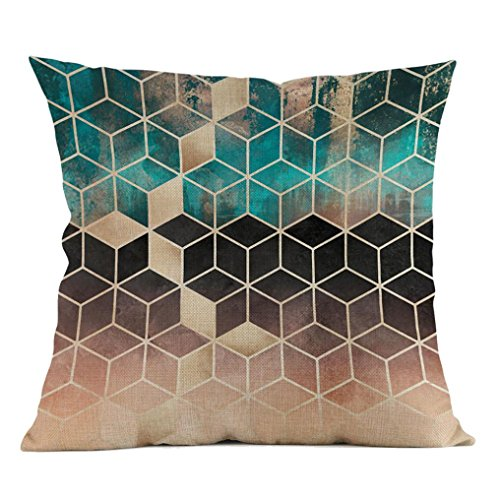 Iuhan Throw Pillow Case Cushion Cover, Fashion Geometric Pillow Case Waist Cushion Cover Sofa Home Decor 18