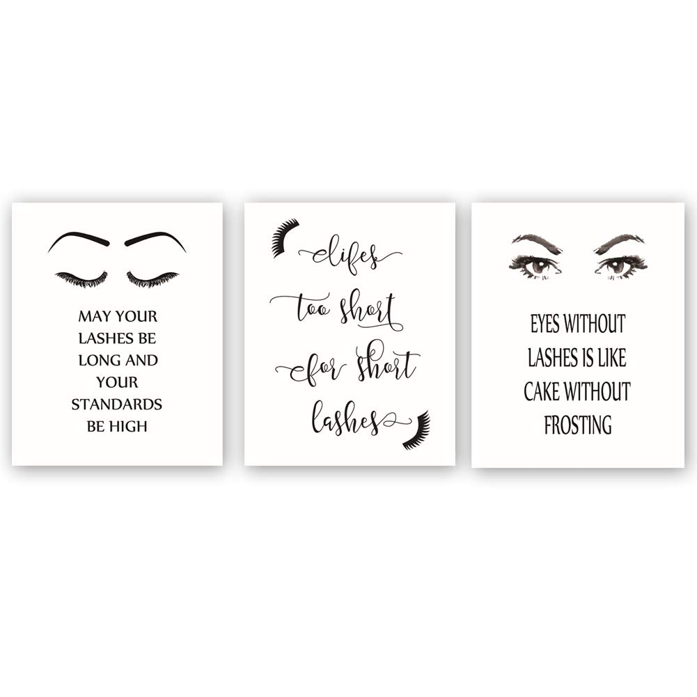 Quote Set of 3  fashion quote prints typography gift