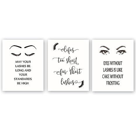 Chsdec Unframed Fashion Printfashion Women Art Printlashes Eyes