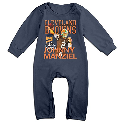hotboy19-babys-johnny-2player-manziel-girls-boys-bodysuit-outfits-long-sleeve-navy-size-12-months