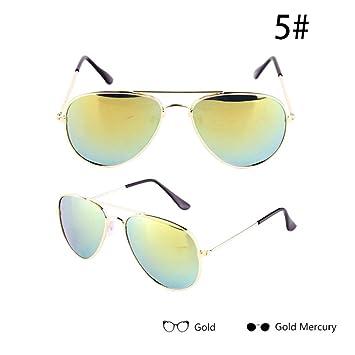 WZYMNTYJ Gafas de Sol para niños Estilo Piolt Gafas de Sol ...