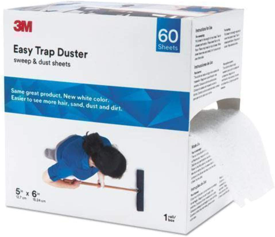 "3M 59032W Easy Trap Duster, 5"" X 30ft, White, 60 Sheets/Box"