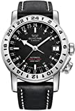 Glycine Airman 17 Mens Analog Swiss Automatic Watch with Leather Bracelet 3917.19-66 LB9B