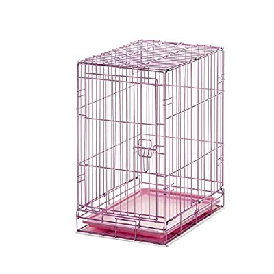Carlson Pet Products Small Pink Single Door Wire Crate