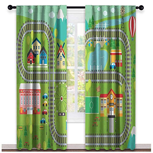 hengshu Kids Activity, Party Curtains Decorations, Train Tracks