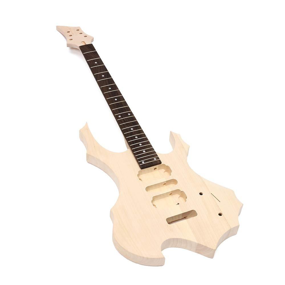 Taihang Kit de bricolaje para guitarra eléctrica de bricolaje con cuerpo de madera de tilo conjunto con cadena de cuello: Amazon.es: Instrumentos musicales