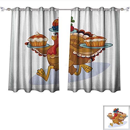 Light Sturbridge 6 (Blackout Curtains Turkey 6 Darkening Bedroom and Living Room Curtains W55 x L39/Pair)