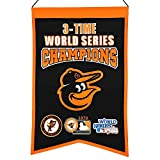 MLB Baltimore Orioles 3 Time WS Champions Banner, One Size
