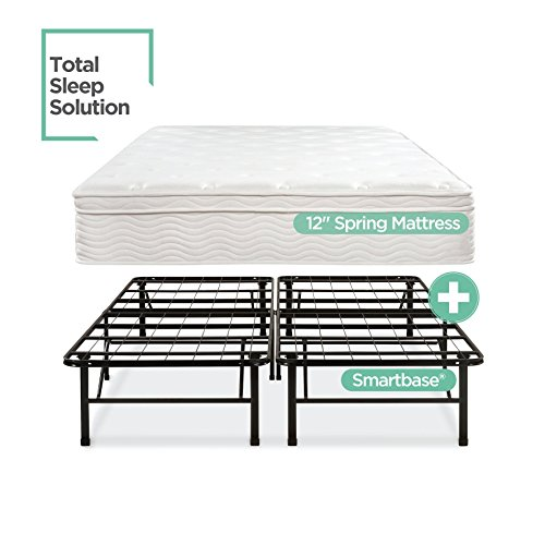Euro Top Set (Night Therapy Spring 12 Inch Euro Box Top Mattress and SmartBase Complete Set, Queen)