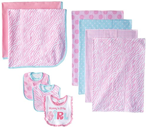 Gerber Baby-Girls Newborn Love 9 Piece Feeding Essential Gift Set