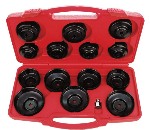 AMPRO T75871  Cup Type Oil Filter Wrench Set, 14-Piece